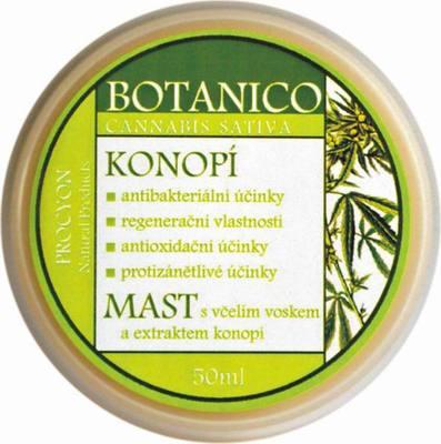 Konopná mast s konopím a včelím voskem 50mlMast s extraktem konopí - Procyon