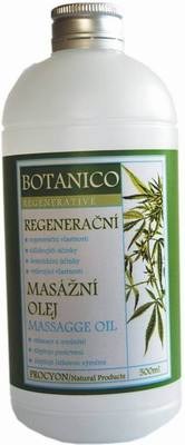 Masážní olej - KONOPÍ stimulační , regenerační  500ml