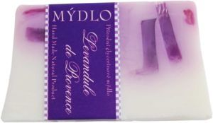 Levandule - křišťálové glycerinové  mýdlo 100g