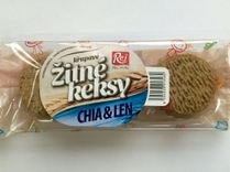 Žitné keksy s chia semínky 150 g